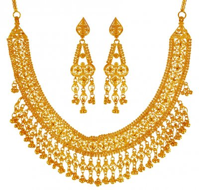 22Kt Yellow Gold Necklace Set ( 22 Kt Gold Sets )