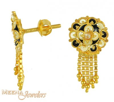 Gold Earrings with Hangings ( 22Kt Gold Fancy Earrings )