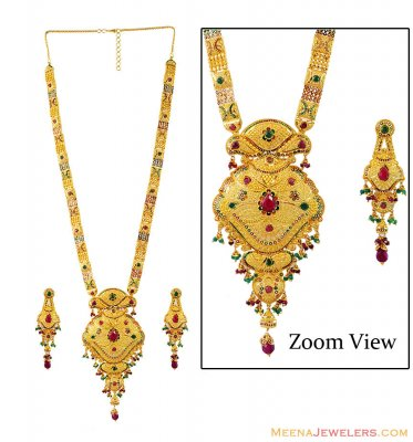 Designer Meenakari Bridal Haar Set ( Bridal Necklace Sets )