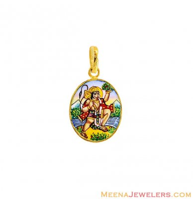 22K Gold Hanuman Pendant ( Ganesh, Laxmi and other God Pendants )