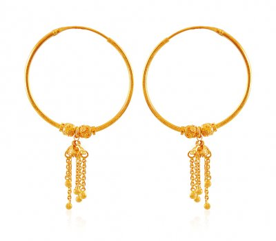 Gold Hoop Earrings ( Hoop Earrings )