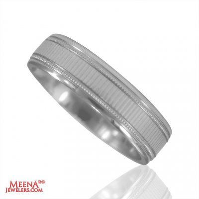 18K White Gold Designer Wedding Band ( Wedding Bands )