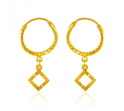 Hoop Earrings 22 Kt Gold ( Hoop Earrings )