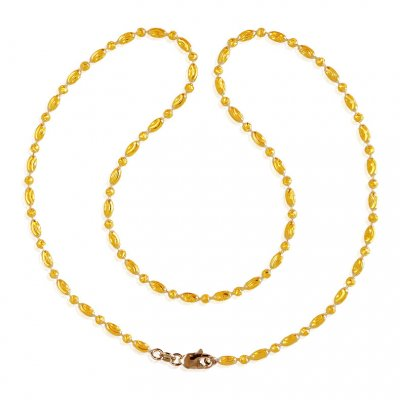 22K Gold Fancy Rice  Chain  ( 22Kt Gold Fancy Chains )