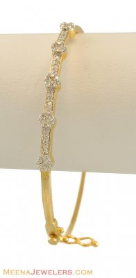 Diamond Bangle (Oval Shape) ( Diamond Bracelets )