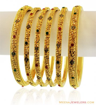 22K Exclusive Set of Bangles ( Set of Bangles )