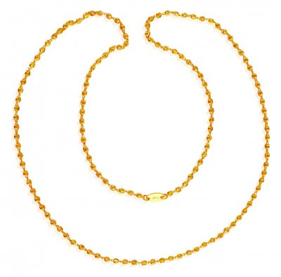 22K Gold Balls Chain (23 Inches) ( 22Kt Long Chains (Ladies) )