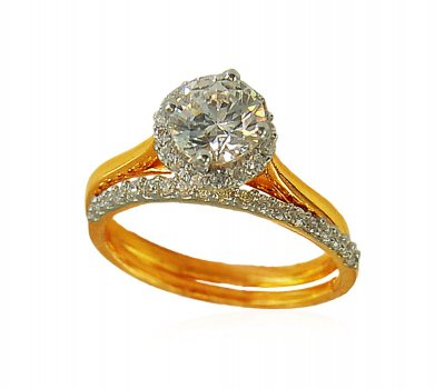 Engagement 22K Ring with Band ( Ladies Signity Rings )