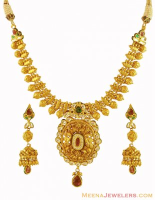 Antique Necklace Earrings Set ( Antique Necklace Sets )