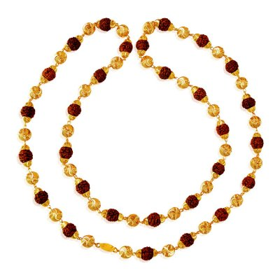 22 Karat Gold Rudraksh Mala ( Men`s Gold Chains )