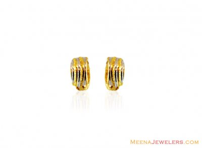 22K fancy Two Tone Earring ( Clip On Earrings )