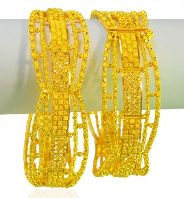 22 Karat Gold Ladies Kada (Pair) ( Kadas )