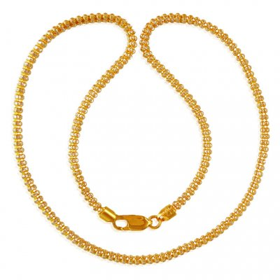 22kt  Gold Two Tone Chain ( 22Kt Gold Fancy Chains )
