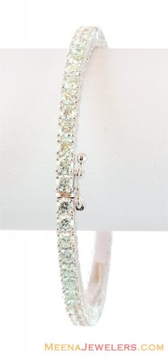 18K White Gold Solitaire Bangle  ( Diamond Bangles )
