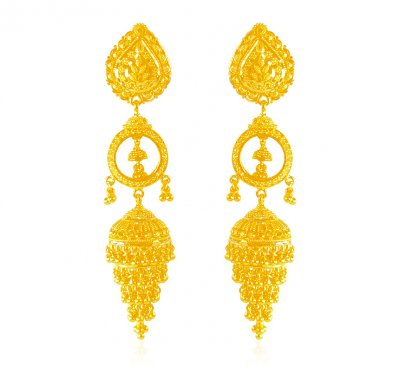 Exclusive 22K Gold Jhumkas ( Exquisite Earrings )