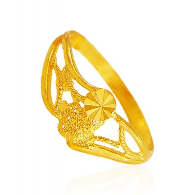 22k Fancy Gold Ring  ( Ladies Gold Ring )