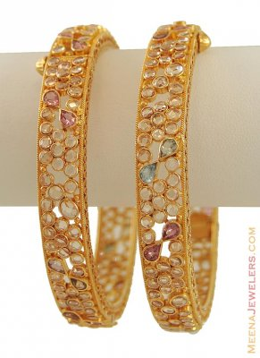 22K Gold Antique Designer Kadas ( Antique Bangles )