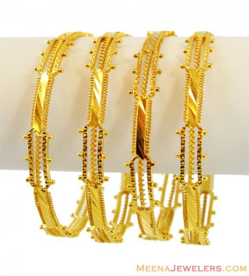 22K Fancy Bangles (2 Pcs) ( Set of Bangles )