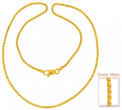 22K Gold Chain (18 Inch) ( Plain Gold Chains )