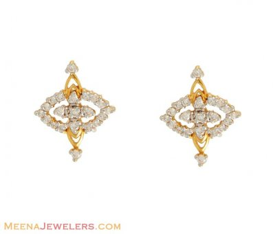 22Kt Signity Earrings ( Signity Earrings )