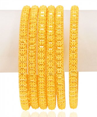 22KT Gold Bangles Set (2 PCs) ( Set of Bangles )