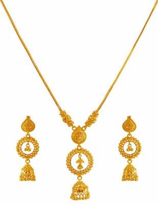 Light Weight 22K Gold Necklace Set ( Light Sets )