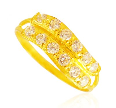 22K Gold Ring For Ladies ( Ladies Signity Rings )