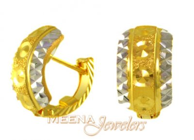 Two Tone Clip On Earrings ( Clip On Earrings )