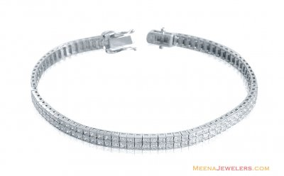 18k White Gold Fancy Bracelet ( Ladies Bracelets )