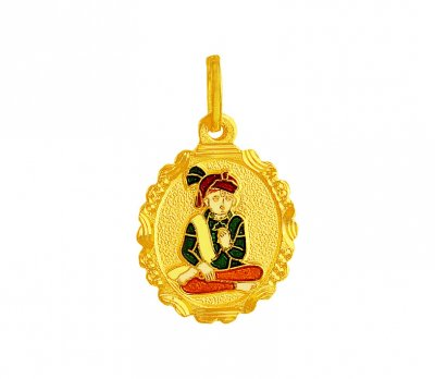 Gold Swami Narayan Pendant ( Ganesh, Laxmi and other God Pendants )
