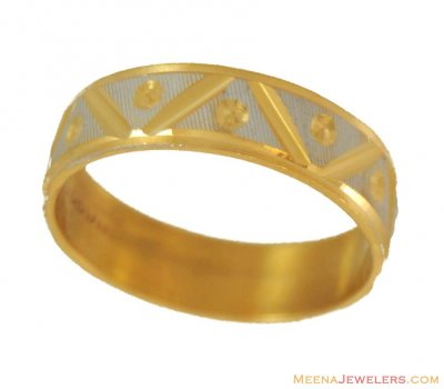 22kt Gold Band (2 Tone) ( Wedding Bands )