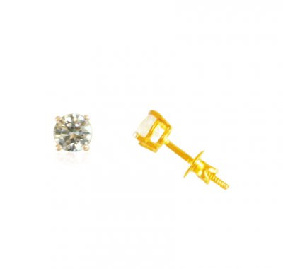 22KT Gold Tops With CZ ( 22 Kt Gold Tops )