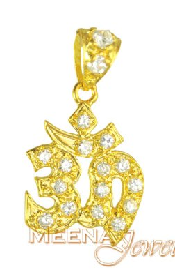 Gold Fancy Om Pendant ( Om Pendants )