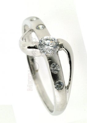 22Kt White Gold Ladies Ring ( Ladies White Gold Rings )