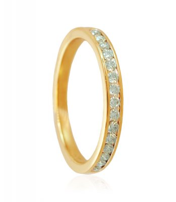 18K Yellow Gold Diamond Band ( Diamond Rings )