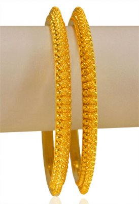 22k Yellow Gold Bangles (2 pcs) ( Gold Bangles )