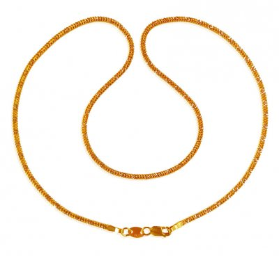 22k  Two Tone Gold Chain  ( Plain Gold Chains )