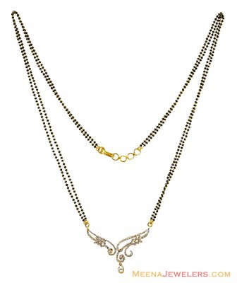 Diamond Mangalsutra 18K Gold ( Diamond MangalSutras )