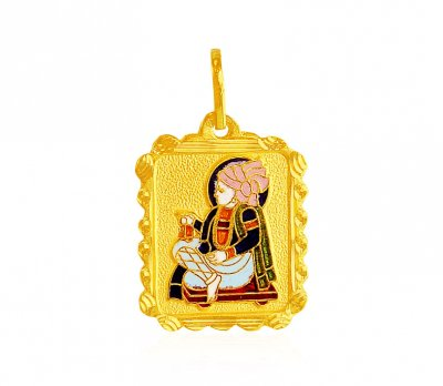 Swami Narayan Jee Gold Pendant ( Ganesh, Laxmi and other God Pendants )