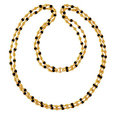 22K Gold Layered Tulsi Mala ( 22Kt Long Chains (Ladies) )
