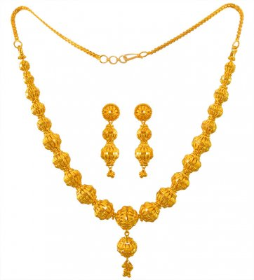 22 Kt Gold Necklace Earring Set ( 22 Kt Gold Sets )