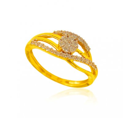 22k Gold Designer Ring  ( Ladies Signity Rings )