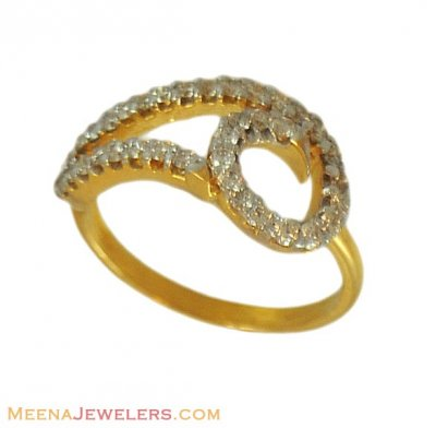 18K Designer Diamond Ring ( Diamond Rings )
