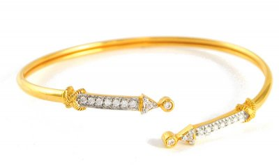 Gold Bangles with Signity ( Stone Bangles )