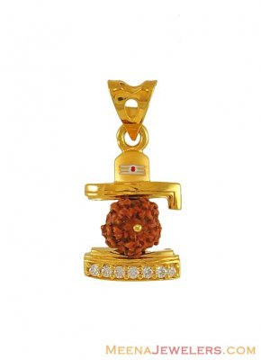 Gold Rudraksh with Shivling ( Ganesh, Laxmi and other God Pendants )