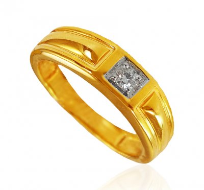 18kt Yellow Gold Diamond Ring ( Diamond Rings )
