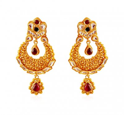 22K Gold Antique Chand Bali ( Exquisite Earrings )