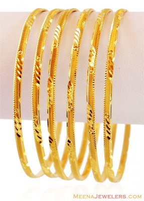 Gold Bangles Set (Set of 2) ( Set of Bangles )