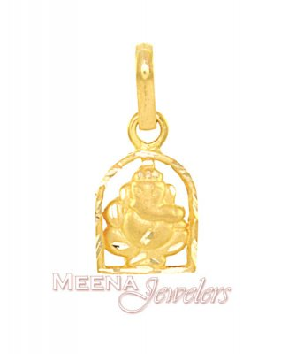 Gold Ganesh Pendant ( Ganesh, Laxmi and other God Pendants )