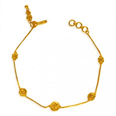 22kt Gold Fancy Bracelet for Girls ( Ladies Bracelets )